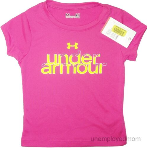 UNDER ARMOUR TEE TOP T-SHIRT LITTLE GIRLS CUTE SAYINGS KIDS SPORTS ATHLETIC
