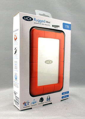 LaCie 1TB Rugged Mini HDD USB 3.0 External Hard Drive HDD 301558 Brand New