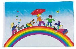 Flagge Regenbogen Kinder Fahne Fur Spielturm Baumhaus Kinderzimmer