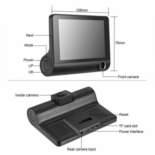 "UK 4/"" Vehicle HD 1080P Car Dashboard DVR Camera Video Recorder Dash Cam G-Sensor"