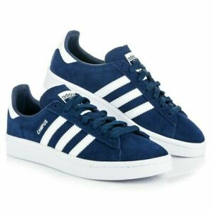 Adidas Shoes Boys Kids Junior Girls Trainers Originals Campus Lace Blue Casual