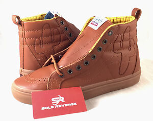 14038d0c09 New Vans Sk8 Hi TOY STORY Woody Boot Skate Shoes Brown Disney Pixar ...
