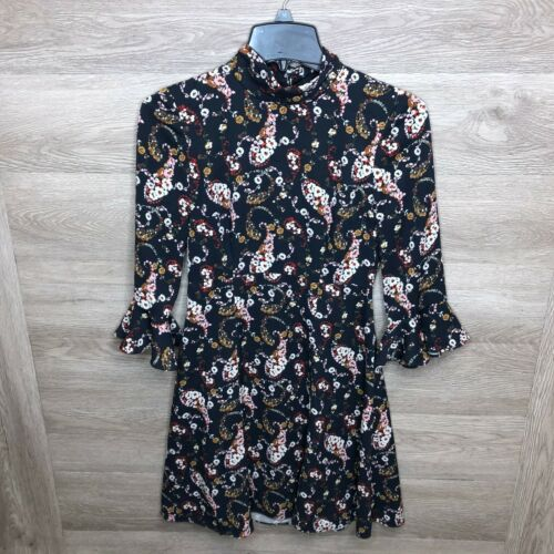 Slate & Willow Womens 0 Floral Pollock Dress Pre O