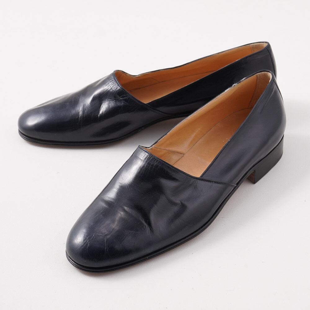 NIB  3300 SILVANO LATTANZI Navy Nappa Leather Opera Pumps US 10.5 Formal shoes