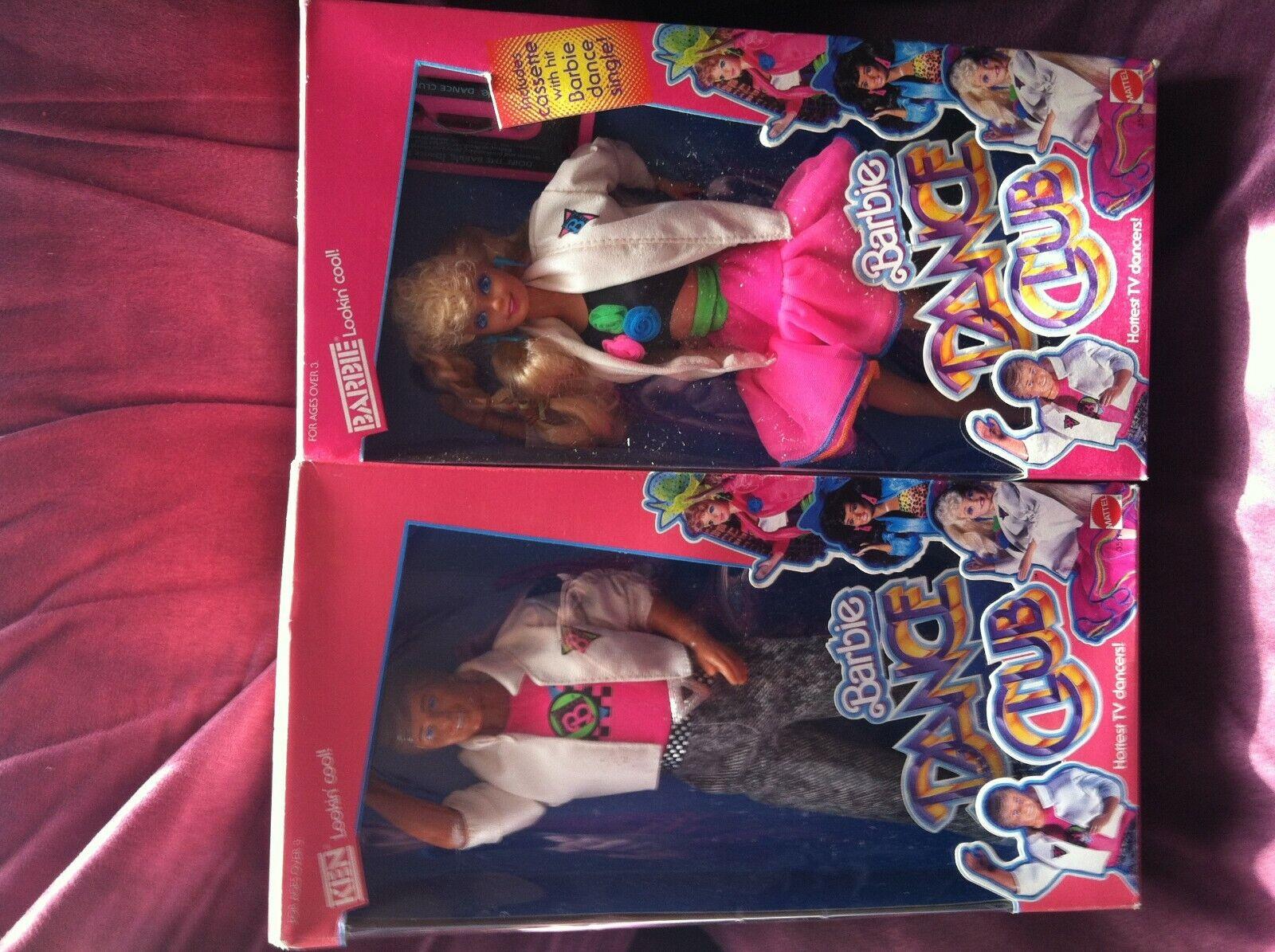 2 Vintage 1989 Dance Club Barbie &  Handsomer Ken  Lookin cool  Dolls ALMINT
