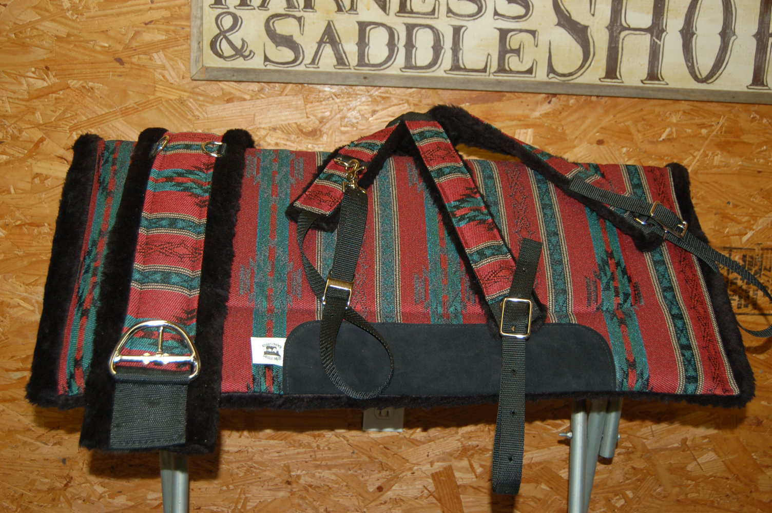RIDERS CHOICE CARDINAL rosso SADDLE PAD COLLAR GIRTH FREE SHIP MADE IN ALABAMA