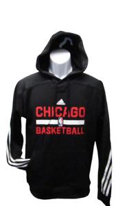 New Chicago Bulls Mens Sizes S-M Adidas Black Hoodie