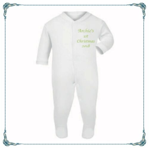 PERSONALISED Baby Grow Sleep Just Done 9 Months  NEWBORN 12 MONTHS Free P/&P