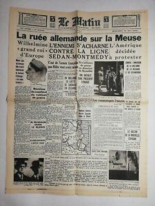 N771-La-Une-Du-Journal-Le-Matin-15-mai-1940-ruee-allemande-sur-la-Meuse