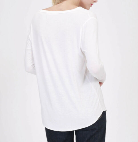L Black Ivory DOUBLE ZERO Soft Essential Long Sleeve Knit Casual Top Women/'s S