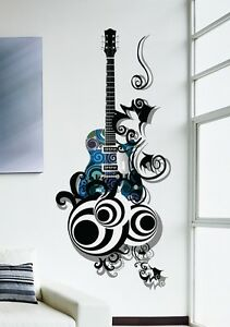 57000277 | Wall Stickers Music Design Guitar Is All About Passion