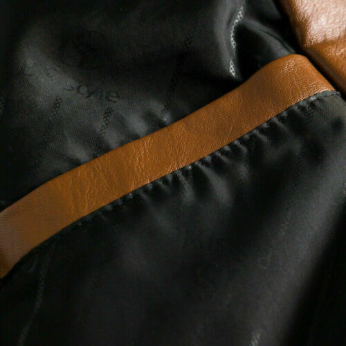Hommes Faux Cuir Veste Blazer Manteau Extérieur Décontracté Noir Mode Neuf