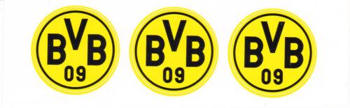 BVB Borussia Dortmund  3 Aufkleber Sticker 3,5 Fussball Bundesliga Fanartikel