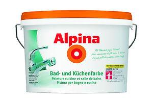 Details zu Alpina Minipack 1Liter, Bad-& Küchenfarbe f. schimmelanfällige  Räume ,weiß