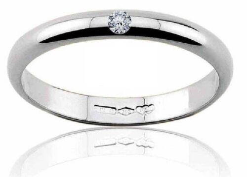 Diana fede fedina matrimonio oro Rosa 18 kt grammi 3 diamante 0.03 matrimonio