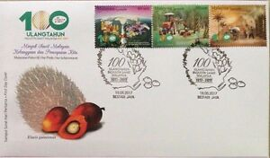 Malaysia FDC with Stamps (18.05.2017) - 100th Ann of M'sian Oil Palm Industry