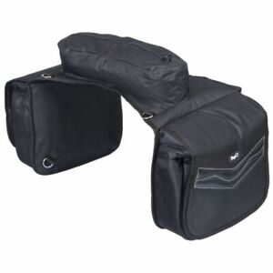 Tough-1-Black-Elite-Insulated-Cantle-Saddle-Bag-Horse-Tack