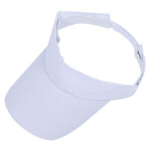 Bianco-cappello-da-Golf-Tennis-berretto-visiera-Sport-protezione-UV-M5H1