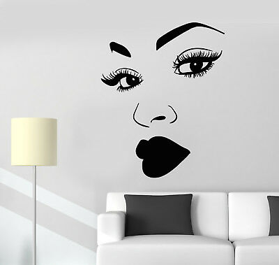 1193ig Vinyl Wall Decal African Woman Black Lady Lips Pomade Makeup Stickers