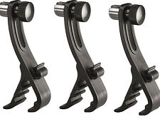 Drum Rim Microphone Clamps Mic 3-Pack Mic Clamp Tom Snare Mic Clip Mount