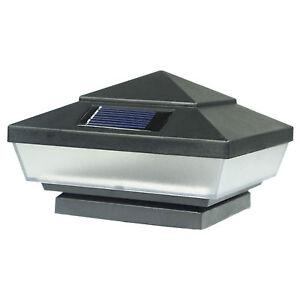 8-Pack-Black-Outdoor-Solar-3-LED-Deck-Cap-Fence-Path-Lights-Landscape-Yard-Lamp