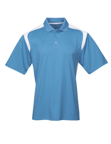 2 COLOR S-6XL MENS SPORTY LOOK POLO SHIRT PERFORMANCE ODOR /& MOISTURE WICKING