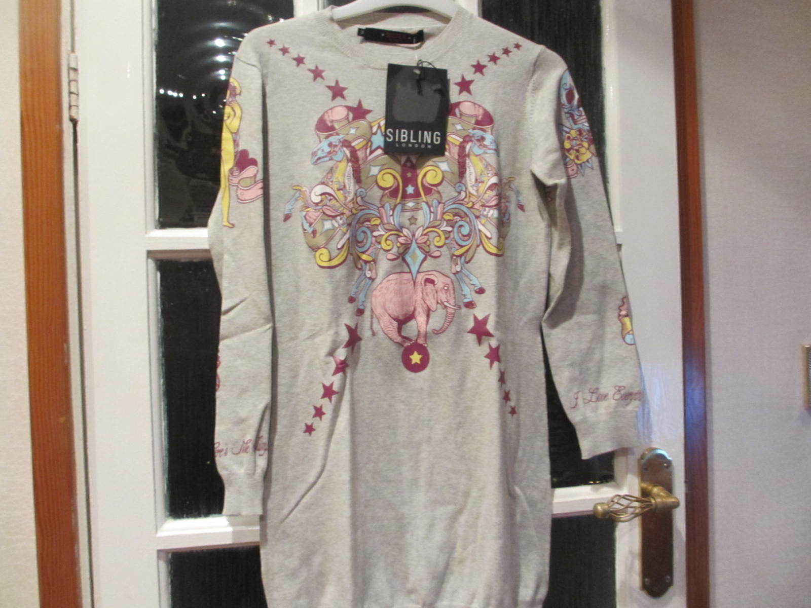 SISTER BY SIBLING WOMEN'S PINK FAIRGROUND ATTRACTION JUMPER - SIZE EXTRA SMALL