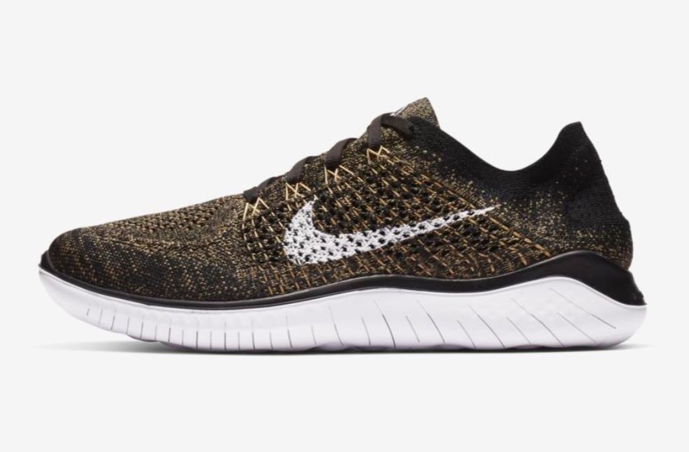 aliviar esposas solidaridad  Nike RN Flyknit 2018 Black and Volt Running Shoes Men's Size 12 for sale  online   eBay
