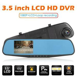 3-5in-1080p-Car-In-Dash-DVR-Cam-Digital-Video-Recorder-Rear-View-Mirror-Camera