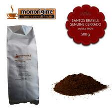 Caffè Arabica macinato fresco per espresso Santos Brasile Genuine Cerrado 500 gr