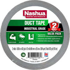 2 Rolls Nashua Industrial Grade Duct Tape Silver 189 X 601 Yards12 Mil
