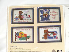 Cross stitch kit  with yarn  I Can... (#4008) The Creative Circle 1988