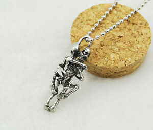 Infinity-Charm-Stainless-Steel-Skeleton-Skull-Pendant-Chain-Necklace-Couple-Gift