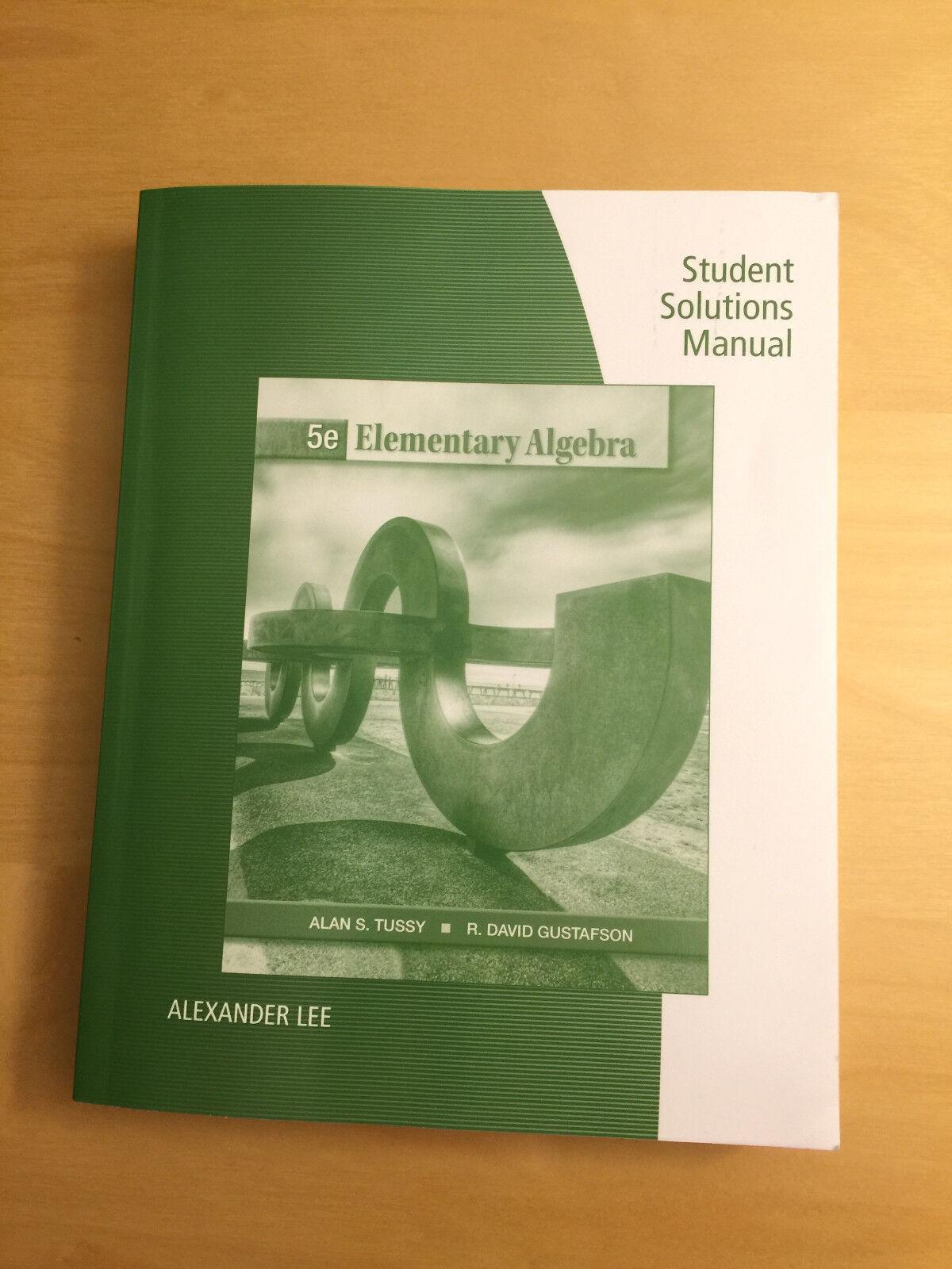 Elementary Algebra by R. David Gustafson and Alan S. Tussy (2012,  Paperback) | eBay