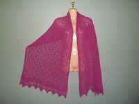 Super soft baby alpaca blend lace shawl /  scarf col:  FUCHSIA