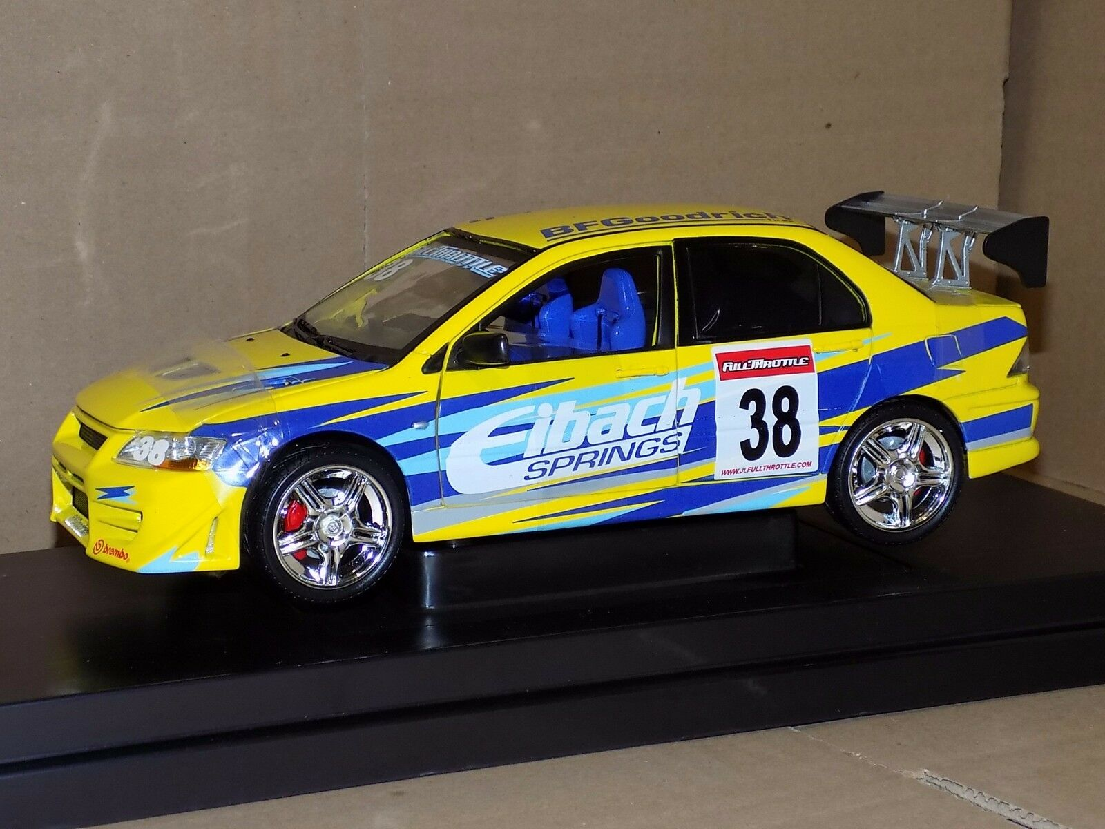 MITSUBISHI  LANCER  EVOLUTION VII  2002 THE FAST AND THE FURIOUS RC2 53607B 1 18