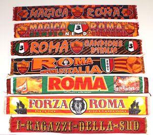 2b41bf9a1c Image is loading Roma-Scarf-Vintage-Football-Scarves-Sciarpa-Calcio-Retro-
