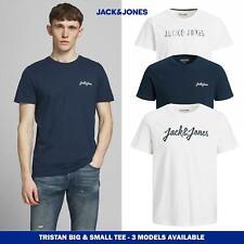 Jack & Jones Mens 3 Pack Logo Tshirt Multipack, short sleeved crew neck, 3pk