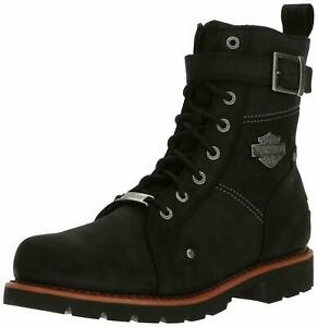 Harley-Davidson-Men-039-s-Wickson-Black-Leather-Motorcycle-Work-Boots-D93489