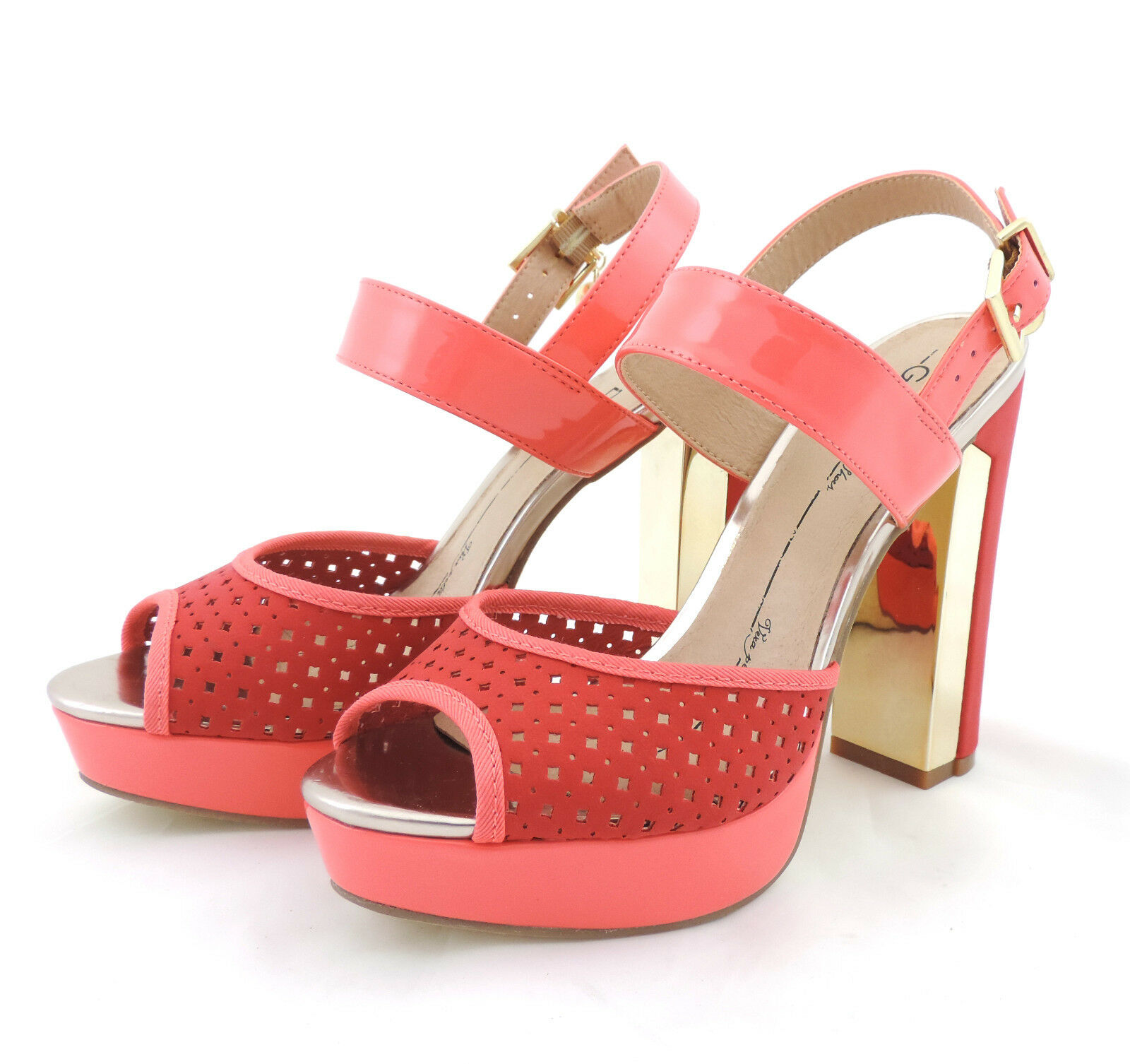 Gaudi  Sandalee high heels rosa lachs  Schuhe pumps neu