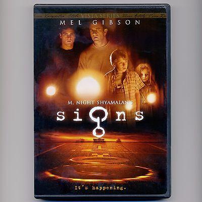 Signs 2002 Pg 13 Horror Thriller Aliens Movie Dvd Mel Gibson Phoenix Breslin Ebay