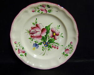 ASSIETTE DECORATIVE FAIENCE ROSE PEINT A LA MAIN ST CLEMENT DECORATEUR MS znaQD4CW-09165518-745376913