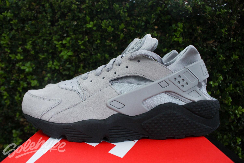 Nike Air Huarache Negro se Sz 11.5 Mate De Plata Negro Huarache 852628 003 c8664e