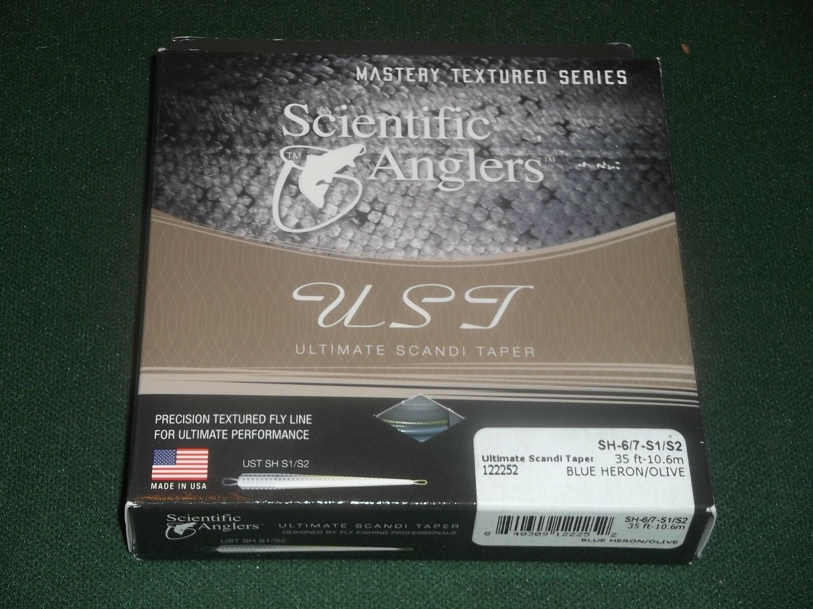 SCIENTIFIC ANGLERS ULTIMATE SCANDI TAPER SH-6 7-S1 S2 blueE HERON OLIVE LINE