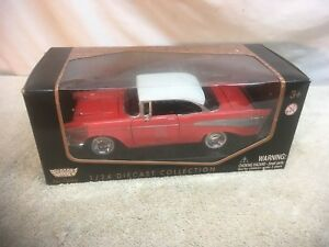 1957-Chevrolet-Belair-Red-Motormax-73200-1-24-Scale-Diecast-Model-Toy-New-In-Box