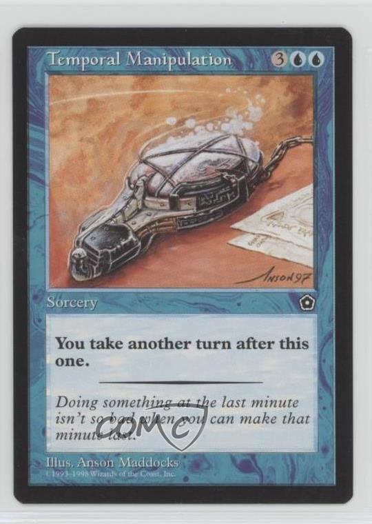 1998 Magic  The Gathering - Portal  NoN Temporal Manipulation Magic Card n0n