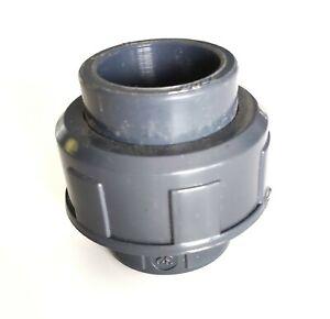 Union  3 pièces 32mm male à coller vers 32mm male à coller PVC Pression