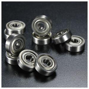 10pcs 6 x 12 x 4mm Metal Sealed Ball Bearings