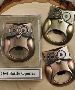 Owl-Bottle-Opener-Bar-Kitchen-Rhinestone-Eyes-Brass-or-Copper-Finish-Gift-Boxed