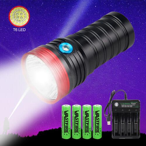 Tactical 18x XM-L T6 LED Flashlight Spotlight Hunting Hiking Lamp 4X18650 Torch